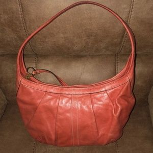 Coach ergo leather pleated bag. very nice shape.